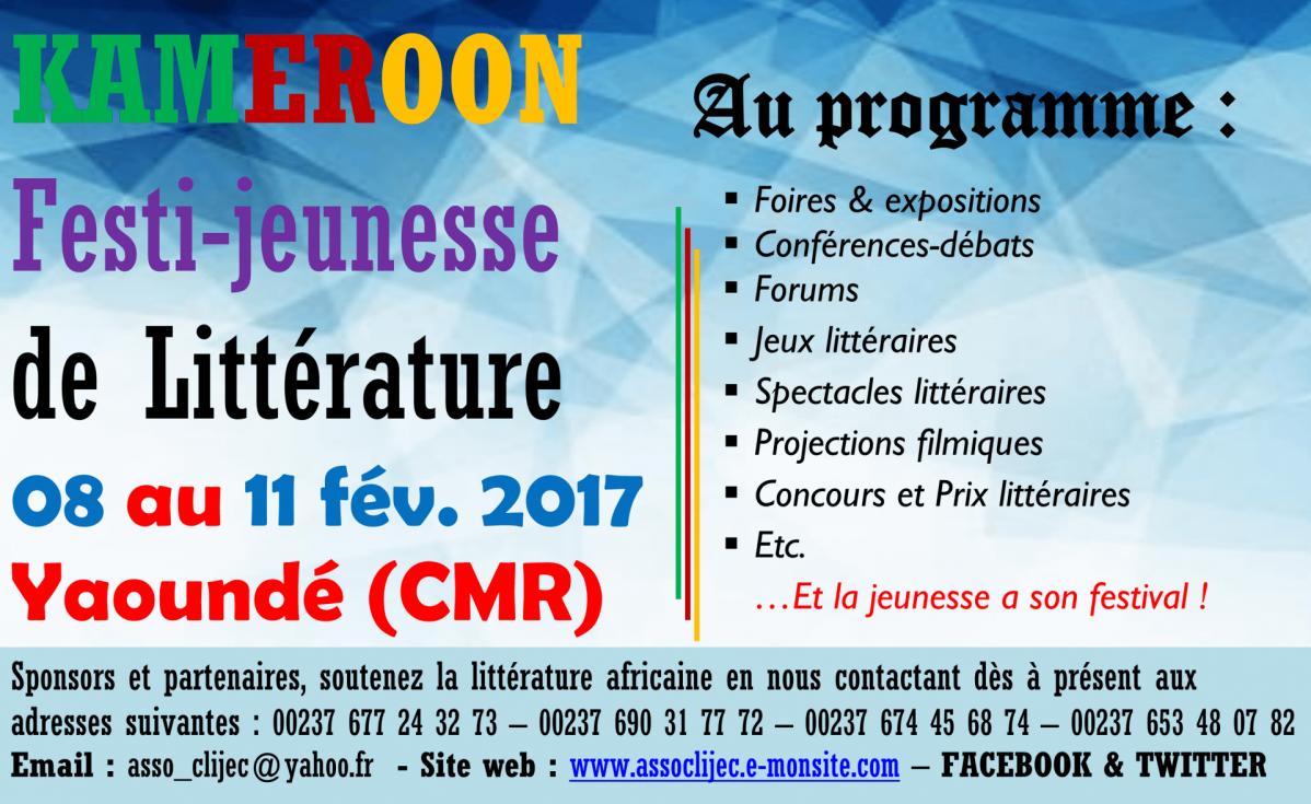 Affiche du festival de fevrier 2017 litterature clijec 1 1