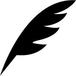 Stylo plume forme diagonale noire d 39 une aile d 39 oiseau 318 60625